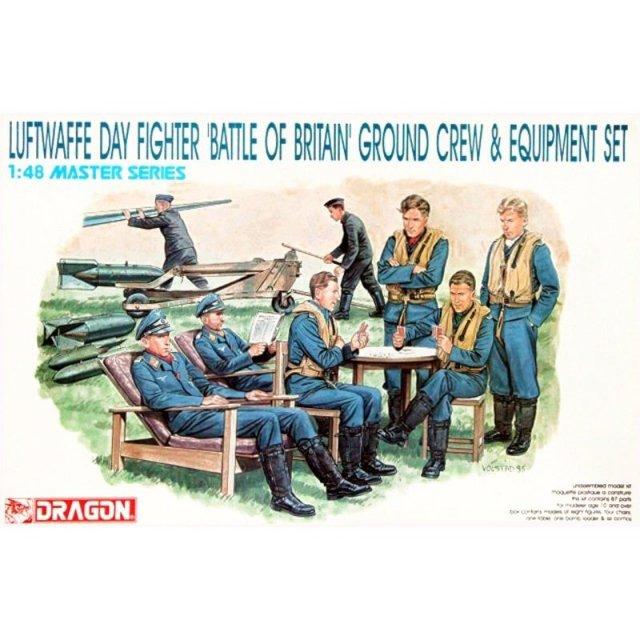 """ドラゴン 1/48 WW.II ドイツ空軍 パイロット&整備兵 フィギュアセット """"""""バトル・オブ・ブリテン"""""""" スケールプラモデル DR5532"""