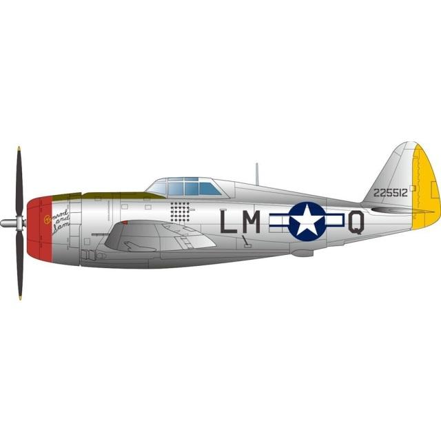 """【4月予約】プラッツ 1/144 アメリカ陸軍戦闘機 P-47D サンダーボルト レザーバック """"ゼムケズ・ウルフパック パート1""""( 2機セット) スケールモデル PDR-30"""