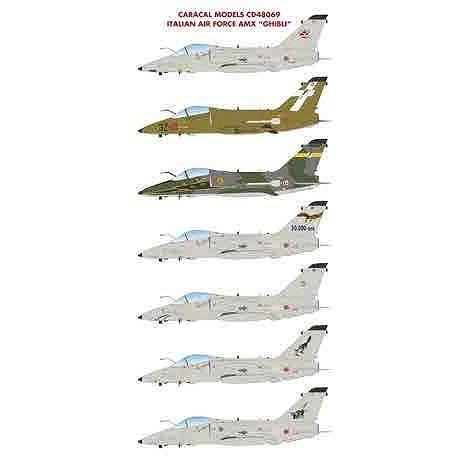 """【4月予約】カラカルモデル 1/48 イタリア空軍 AMX """"ギブリ"""" デカール 模型用グッズ CD48069"""