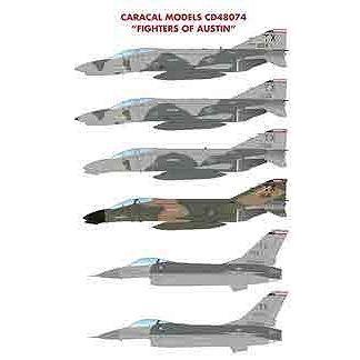 【4月予約】カラカルモデル 1/48 アメリカ空軍 F-4D/E F-16A バーグストローム空軍基地 デカール 模型用グッズ CD48074