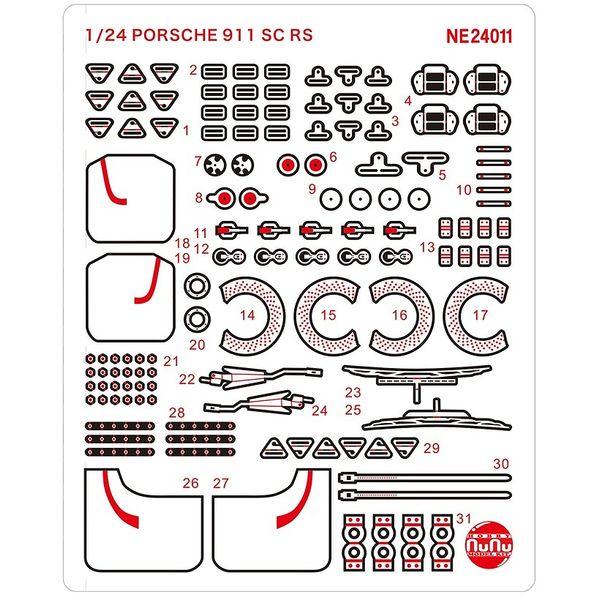 【9月予約】プラッツ/NuNu 1/24 レーシングシリーズ ポルシェ 911 SC RS 1984 オマーン ラリー ウィナー用ディテールアップパーツ 模型用グッズ NE24011