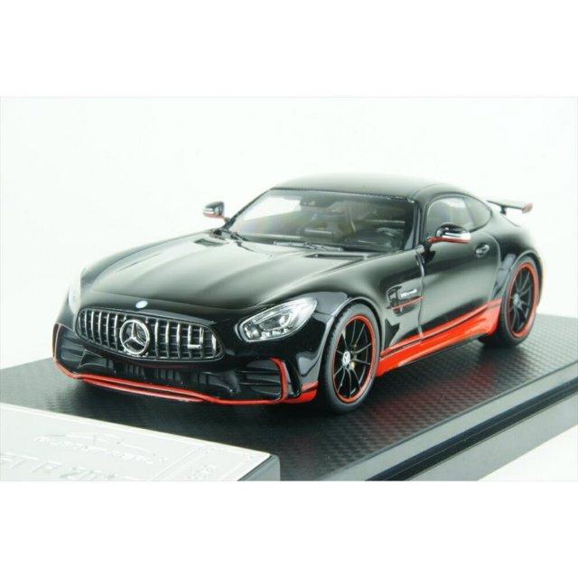 オールモストリアル 1/43 メルセデス AMG GT-R ブラック/レッド 完成品ミニカー AL420709