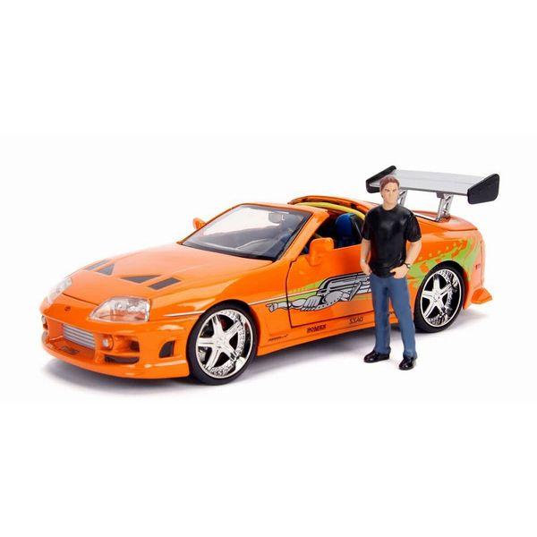 【41%OFF】JADATOYS 1/24 ワイルドスピード トヨタ スープラ オレンジ ブライアン・オコナー フィギュア付 【同梱種別A】完成品ミニカー JADA30738