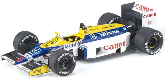 【6月予約】トップマルケス 1/18 ウィリアムズ FW11 No.5 F1 N.マンセル 完成品ミニカー GRP078A