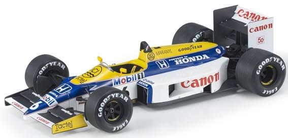 【6月予約】トップマルケス 1/18 ウィリアムズ FW11 No.6 F1 N.ピケ 完成品ミニカー GRP078B
