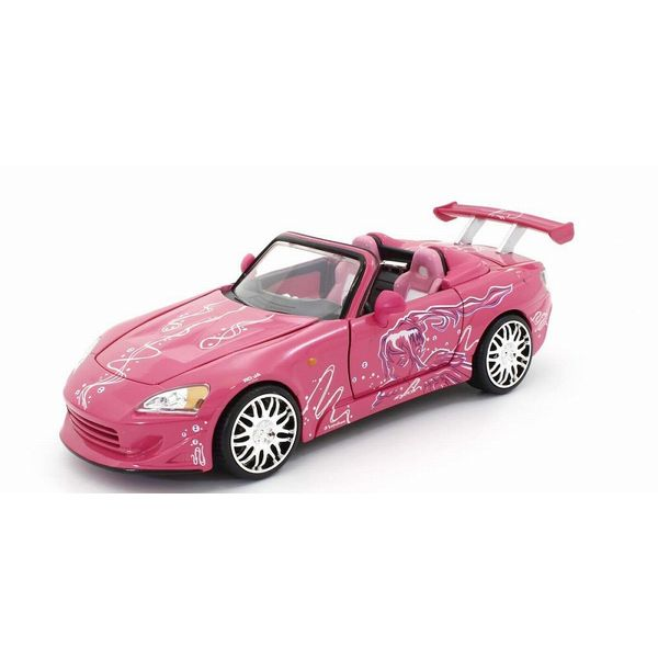 【42%OFF】JADATOYS 1/24 ワイルドスピード ホンダ S2000 ピンク/グラフィックス スーキー 【同梱種別A】完成品ミニカー JADA97604