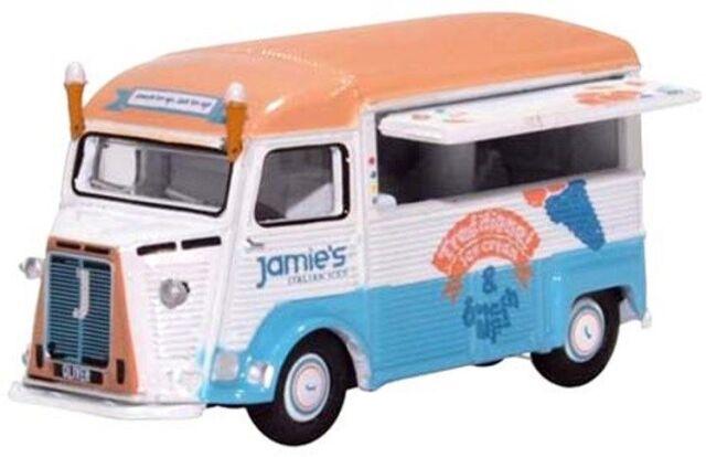 【11月予約】オックスフォード 1/76 シトロエン Hタイプ ケータリングバン Jamie Oliver アイスクリーム 完成品ミニカー OX76CIT001