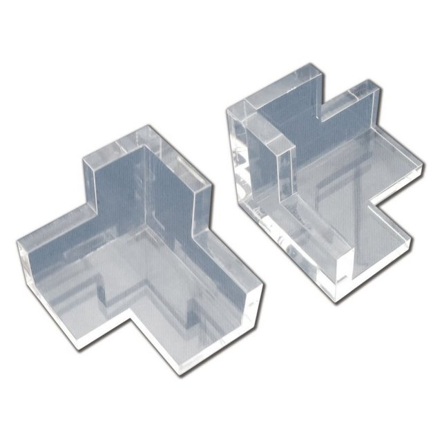 シモムラアレック 透明アクリル製 3方直角出し「角三(かくさん)」 模型用グッズ AL-K93