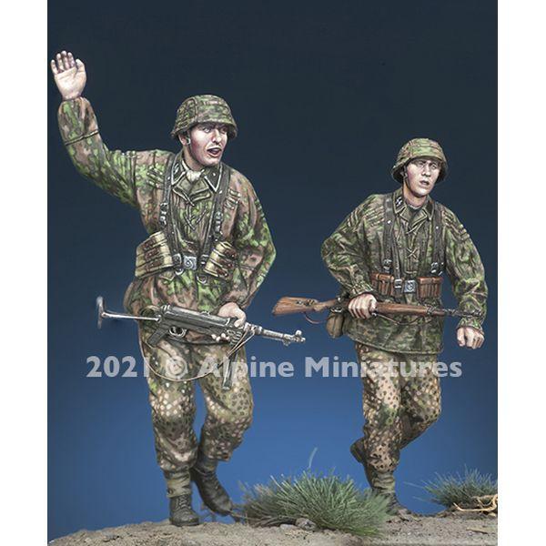 【6月予約】Alpine Miniatures 1/35 WWII 独 武装SS擲弾兵 1944 2体セット スケールモデル AM35289