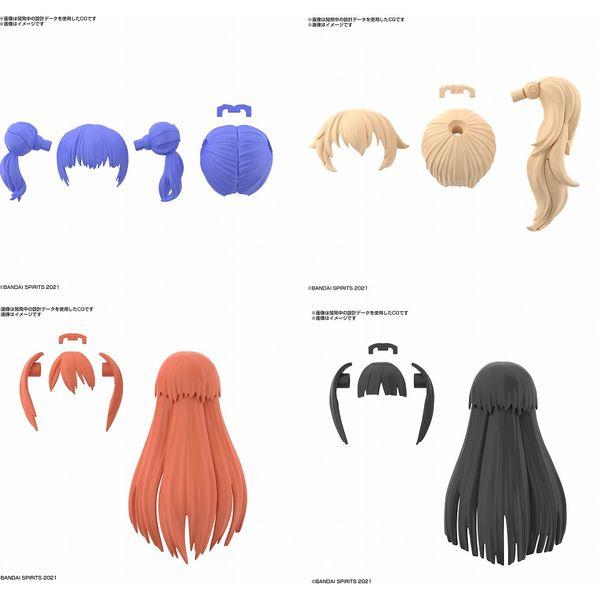 【11月予約】バンダイ オプションヘアスタイルパーツ VOL.3 4種セット 「30 MINUTES SISTERS」より 模型用グッズ 5062200