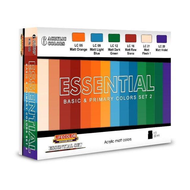 LifeColor ライフカラー常用基本色セット2 模型用グッズ ES02