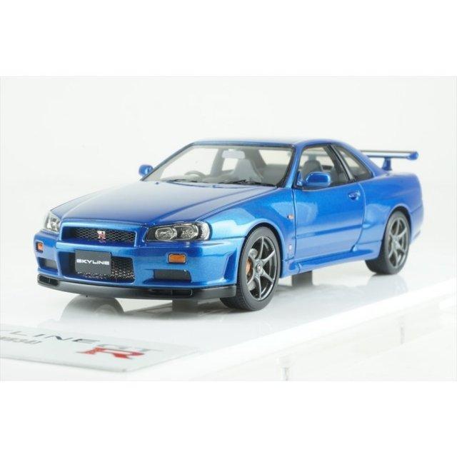 アイドロン 1/43 ニッサン スカイライン GT-R BNR34 1999 ベイサイドブルー 完成品ミニカー EM461A