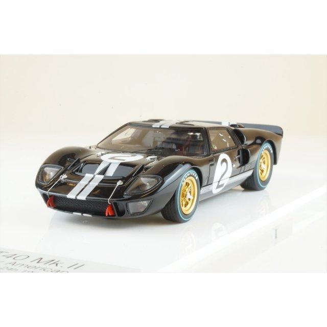 """アイドロン 1/43 GT Mk.II No.2 """"""""シェルビーアメリカン"""""""" 1966 ル・マン24時間 ウィナー 完成品ミニカー EM301A"""
