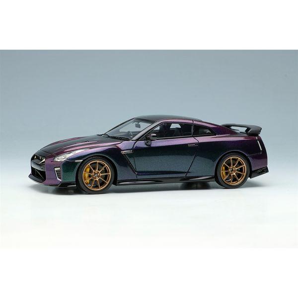 【1月予約】アイドロン 1/43 ニッサン GT-R プレミアムエディション T-spec 2022ミッドナイトパープル 完成品ミニカー EM624B