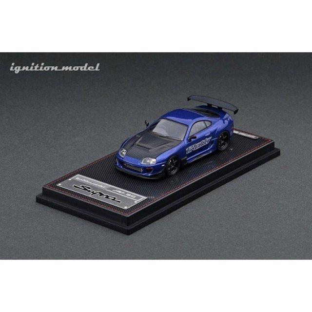 イグニッションモデル 1/64 トヨタ スープラ JZA80 RZ ブルーメタリック GReddy Ver. 完成品ミニカー IG2239
