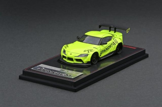 イグニッションモデル 1/64 パンデム トヨタ スープラ A90 イエローグリーン 完成品ミニカー IG2337