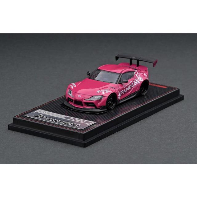 イグニッションモデル 1/64 パンデム トヨタ スープラ A90 ピンク 完成品ミニカー IG2339