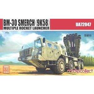 モデルコレクト 1/72 BM-30 スメーチ(9K58)多連装 ロケットランチャー車 スケールモデル MODUA72047