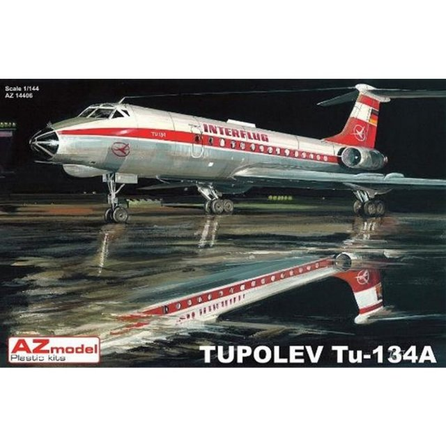 AZモデル 1/144 ツポレフ Tu-134A 「インターフルーク」 スケールプラモデル AZM14406