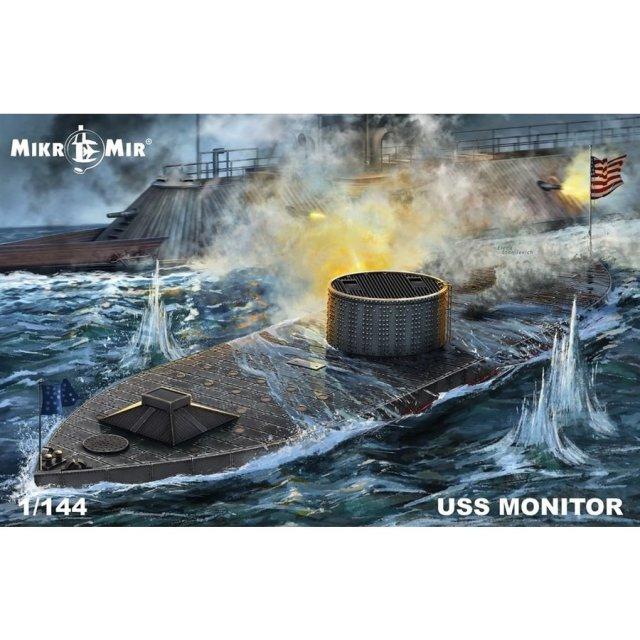 ミクロミル 1/144 USS モニター スケールモデル MKR144-028