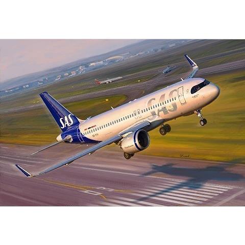 【4月予約】ズベズダ 1/144 エアバス A320 neo 一部新金型 スケールモデル ZV7037