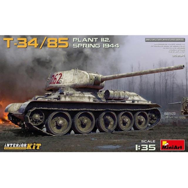 ミニアート 1/35 T-34/85第112工場製(1944年春)フルインテリア(内部再現) スケールモデル MA35294
