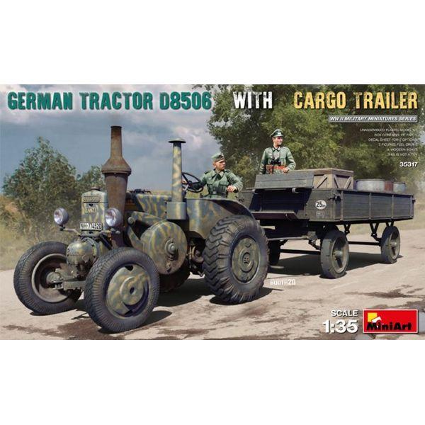 【5月予約】ミニアート 1/35 ドイツトラクターD8506 貨物トレーラー付 スケールモデル MA35317