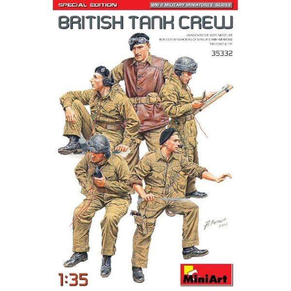 【5月予約】ミニアート 1/35 イギリス戦車乗組員5体入 特別版(武器・装備品付) スケールモデル MA35332