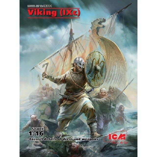 ICM 1/16 ヴァイキング戦士 9世紀 スケールプラモデル 16301