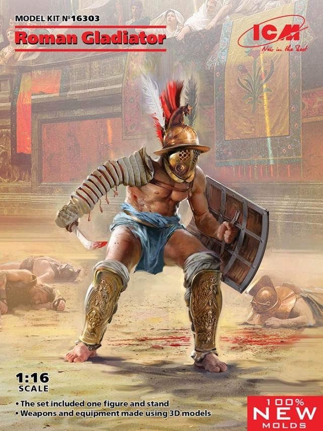 ICM 1/16 古代ローマ 剣闘士 スケールモデル 16303