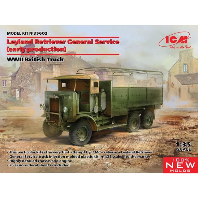 ICM 1/35 イギリス レイランド レトリバー GSトラック(初期型) スケールモデル 35602