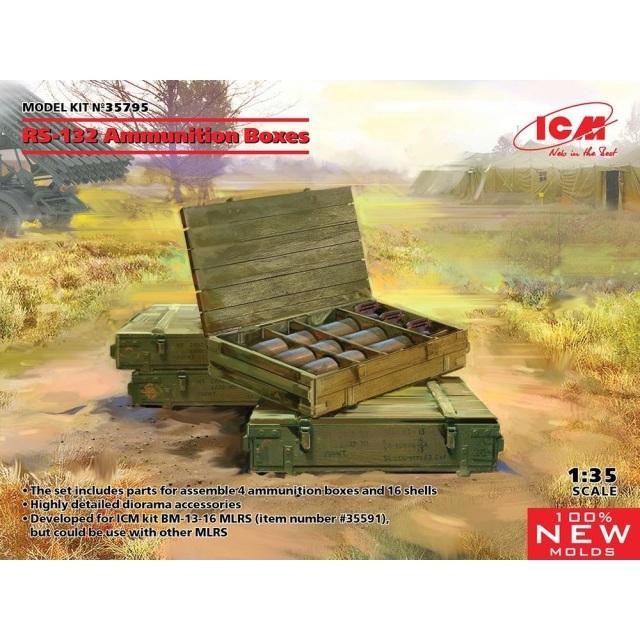 ICM 1/35 ソビエト RS-132 弾薬箱 スケールモデル 35795