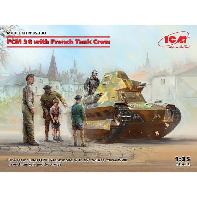 【2月予約】ICM 1/35 フランス FCM36 軽戦車 w/クルー スケールモデル 35338
