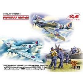 ICM 1/48 WWII イギリス空軍飛行場 情景セット スケールモデル DS4802