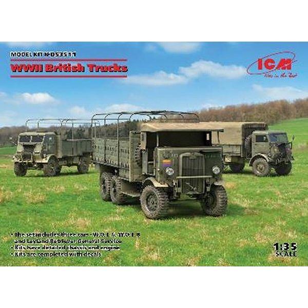 ICM 1/35 WWII イギリス トラック セット スケールモデル DS3511