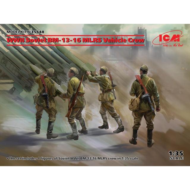【2月予約】ICM 1/35 WWIIソビエト BM-13-16 MLRS クルー スケールモデル 35648