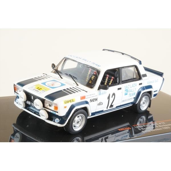 イクソ 1/43 LADA 2105 VFTS No.12 1983 WRC スウェディッシュラリー S.Brundza/A.Girdauskas 完成品ミニカー RAC295