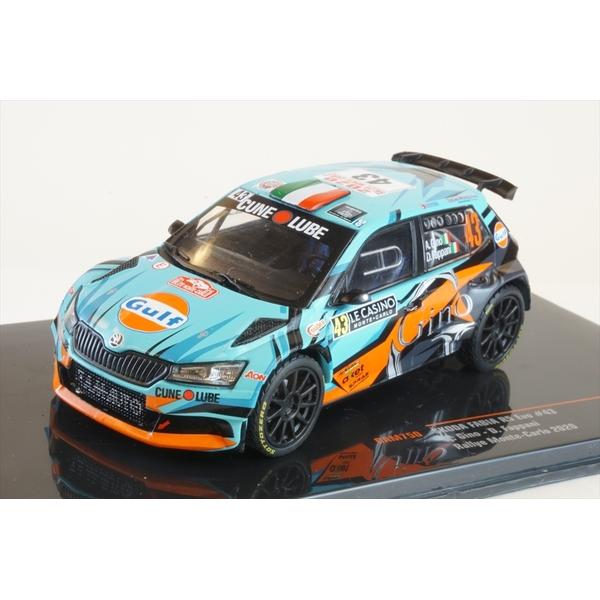 イクソ 1/43 シュコダ ファビア R5 EVO No.43 2020 WRC ラリー・モンテカルロ A.Gino/D.Fappani 完成品ミニカー RAM750