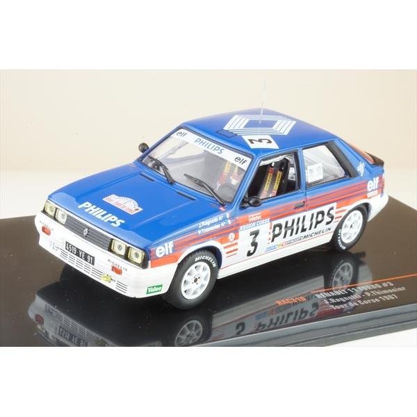 イクソ 1/43 ルノー 11 ターボ 1987 WRC ツール・ド・コルス No.3 J.ラニョッティ/P.Thimonier 完成品ミニカー RAC310