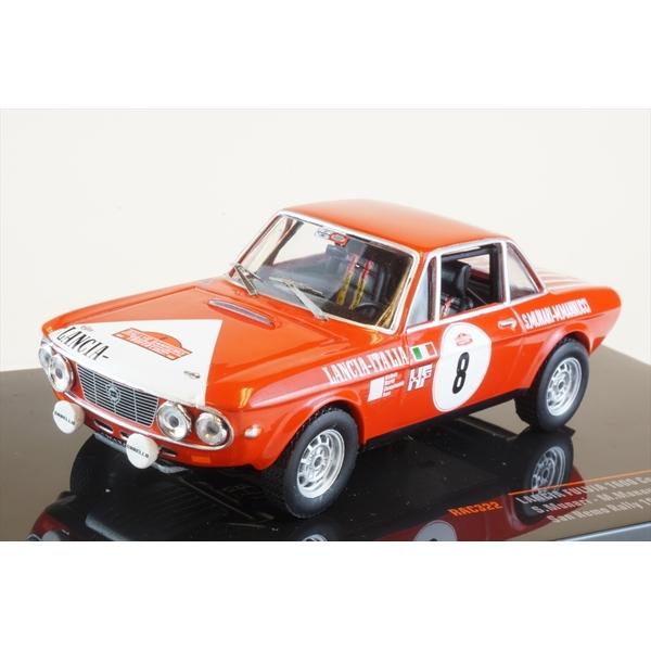 イクソ 1/43 ランチア フルヴィア 1600 クーペ HF No.8 1972 ラリー・サンレモ S.ムナーリ/M.Mannucci 完成品ミニカー RAC322