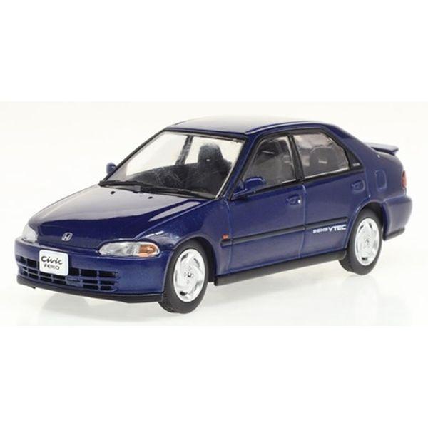 【4月予約】ファースト43 1/43 ホンダ シビックフェリオ SiR 1991 ブルー 完成品ミニカー F43-147