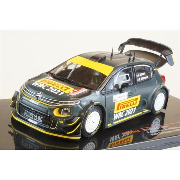 イクソ 1/43 シトロエン C3 WRC No.21 2020 ラリー・サルデーニャ P.ソルベルグ/A.ミケルセン 完成品ミニカー RAM766LQ