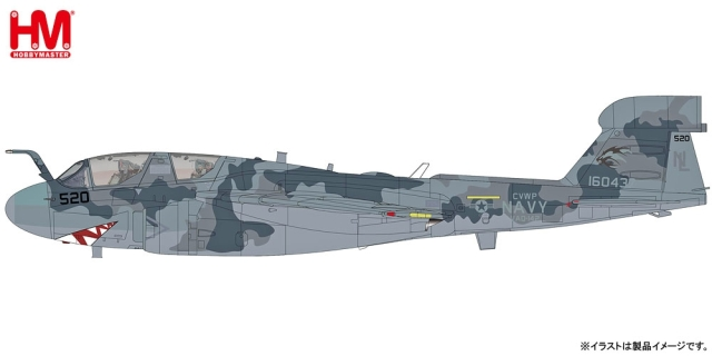 """【4月予約】ホビーマスター 1/72 EA-6E プラウラー """"VAQ-142 グレイ・ウルブス"""" 完成品モデル HA5010"""