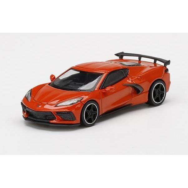 【5月予約】MINI GT 1/64 シボレー コルベット スティングレイ 2020 セブリング オレンジ ティントコート 左ハンドル 完成品ミニカー MGT00227-L