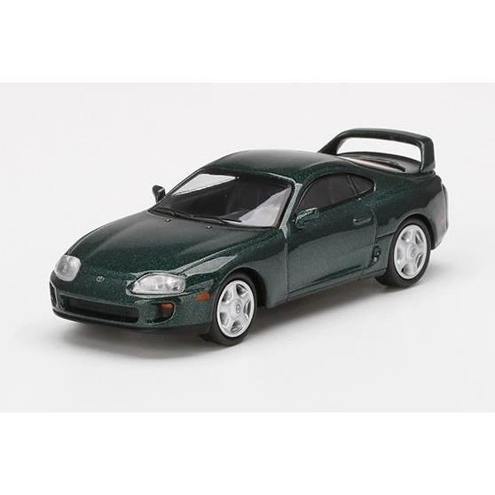 【5月予約】MINI GT 1/64 トヨタ スープラ ダークグリーンパールメタリック 左ハンドル 完成品ミニカー MGT00230-L