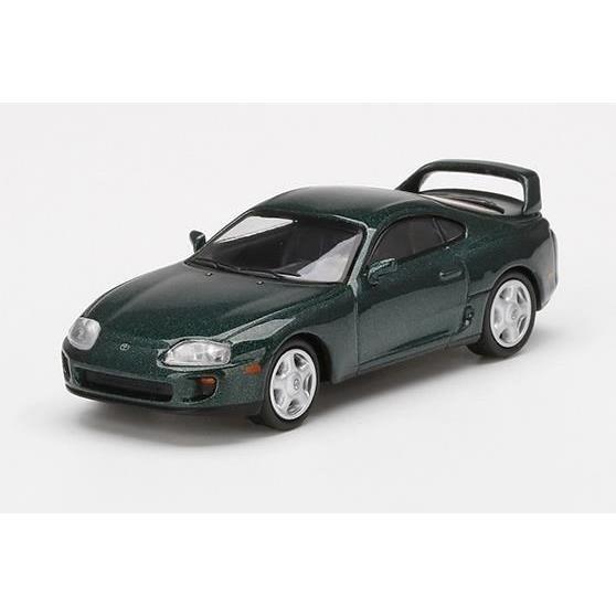 【5月予約】MINI GT 1/64 トヨタ スープラ ダークグリーンパールメタリック 右ハンドル 完成品ミニカー MGT00230-R