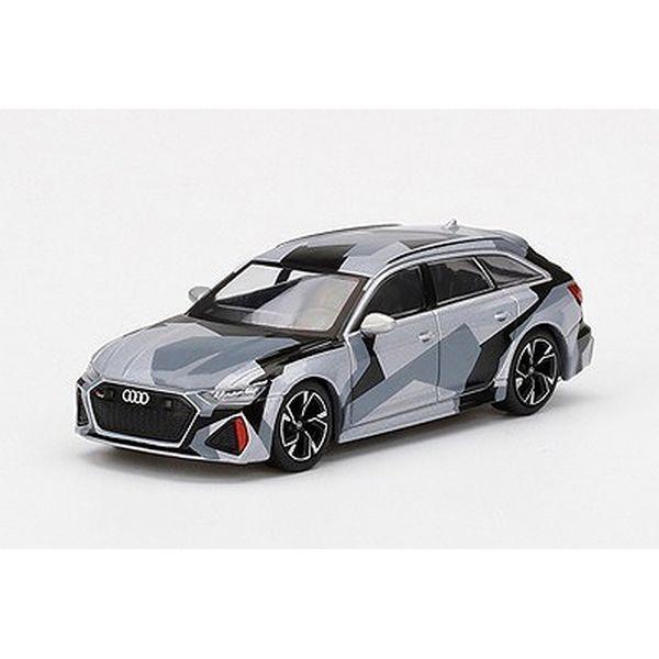 【8月予約】MINI GT 1/64 アウディ RS 6 アバント シルバーデジタルカモフラージュ 完成品ミニカー MGT00255-L