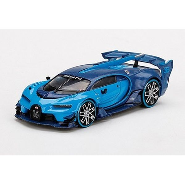 【10月予約】MINI GT 1/64 ブガッティ ビジョン グランツーリスモ ブルー 左ハンドル 完成品ミニカー MGT00266-L