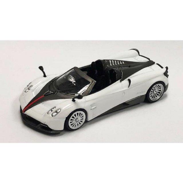 MINI GT 1/64 パガーニ ウアイラ ロードスターホワイト 黒ストライプ 右ハンドル 完成品ミニカー MGT00053-R
