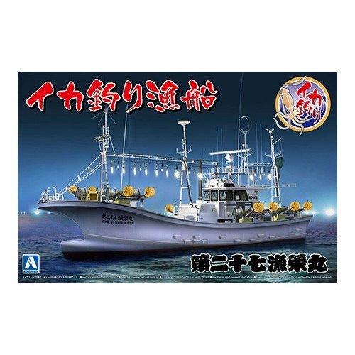 アオシマ 1/64 イカ釣り漁船 スケールモデル 漁船 No.3